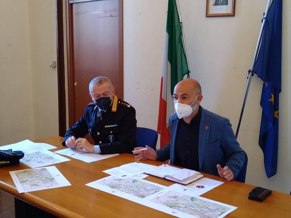Simone Cretella e comandante Polizia Municipale Campobasso Luigi Greco