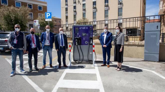 colonnina ricarica auto elettrica piazza sant antonio inaugurazione