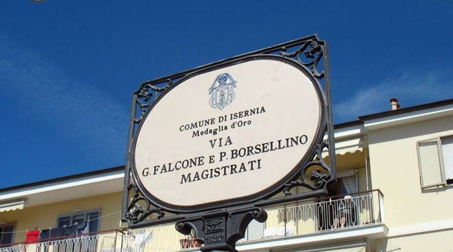 Isernia strada Falcone e Borsellino