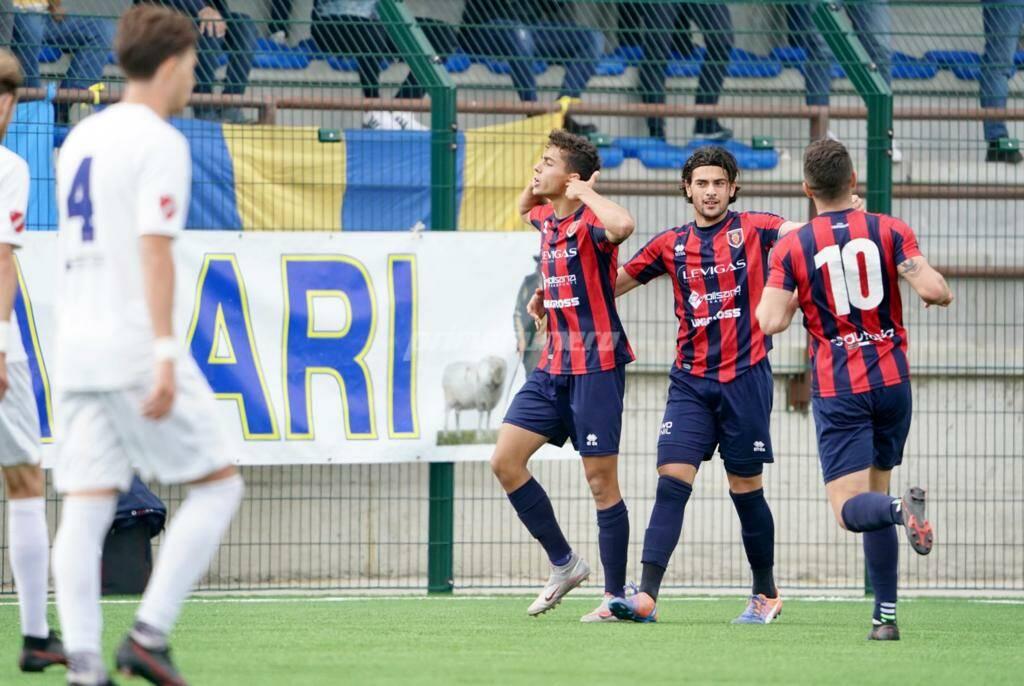 Esultanza Vitali Campobasso Calcio