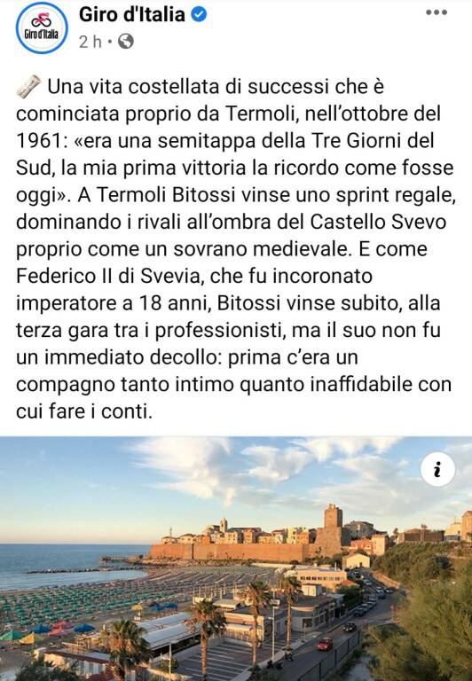 Giro Italia post fb