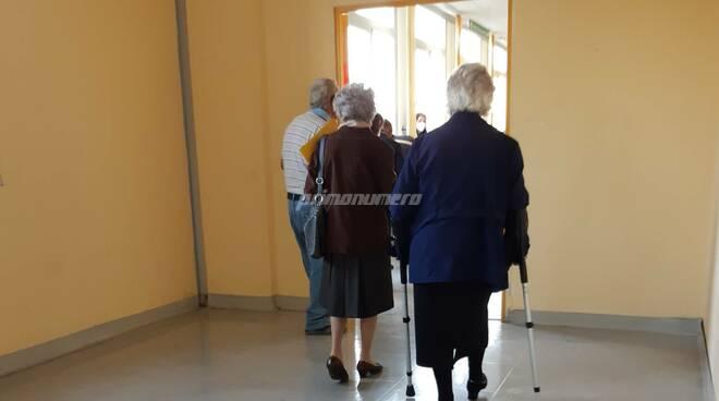 Laboratorio analisi ospedale termoli pazienti fila gente stampelle