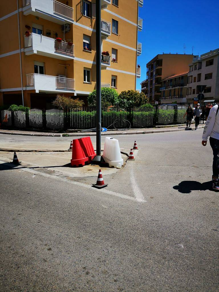 lavori strade giro d'italia termoli