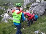 Soccorso alpino persona ferita Frosolone Morgia rocce soccorso persona