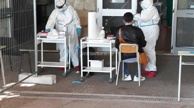 Tamponi covid ospedale Cardarelli di Campobasso