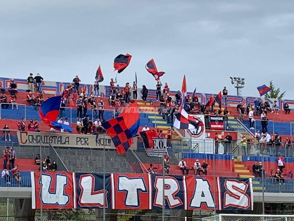 Curva Nord Campobasso porto Sant'Elpidio stadio calcio tifosi