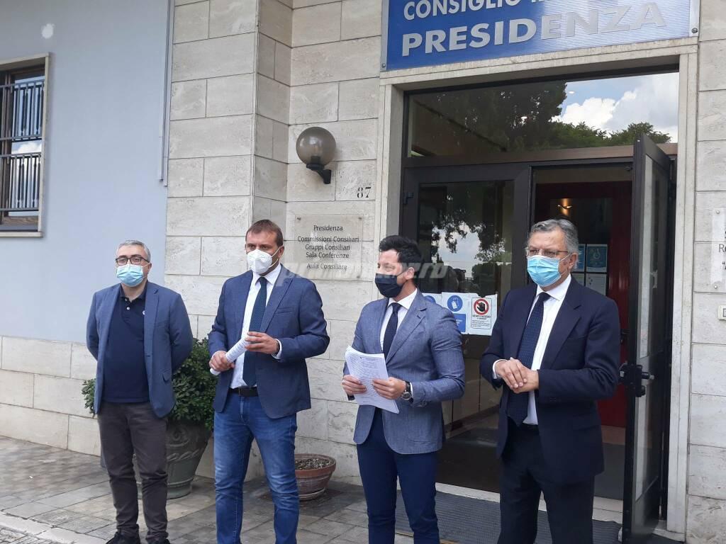 M5S consiglio regionale De Chirico Primiani Greco Nola