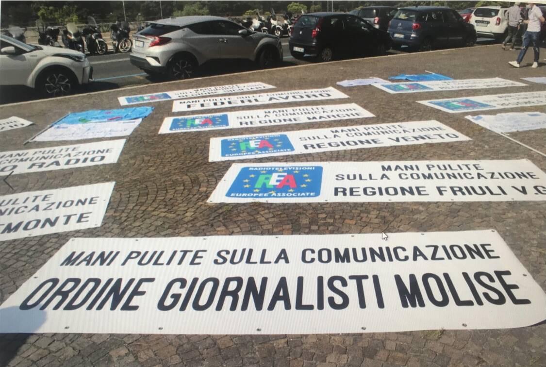 Cimino protesta ordine dei giornalisti