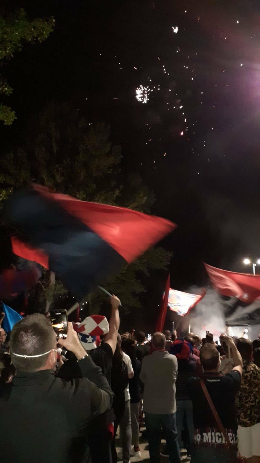 festa allo stadio rientro Campobasso calcio