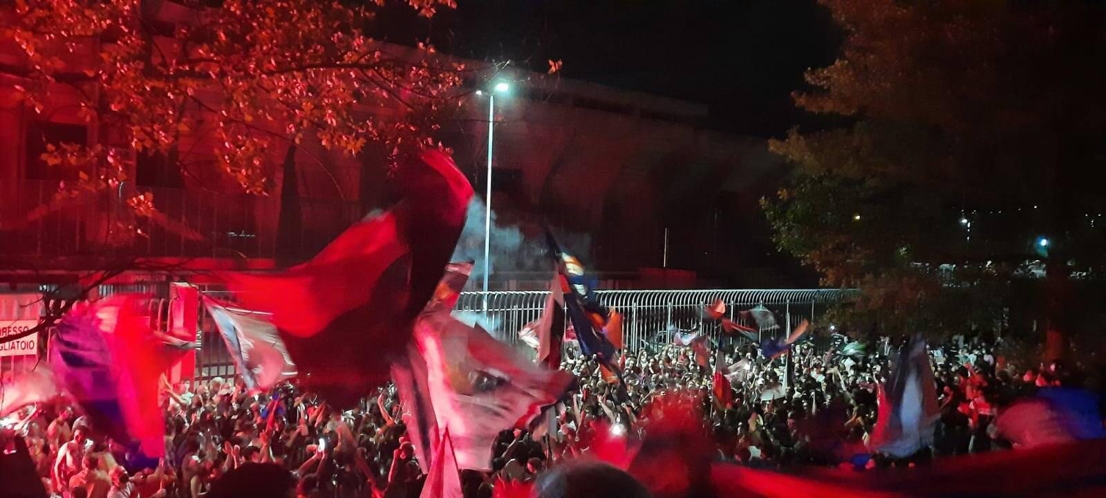 festa stadio promozione Campobasso