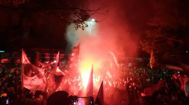 festa tifosi Campobasso dopo promozione