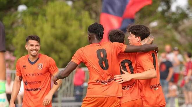 Pineto Campobasso calcio Rossetti Tenkorang esultanza