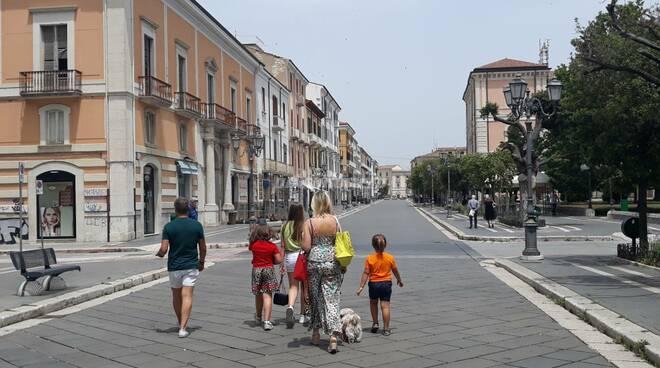 Corso Campobasso famiglia covid mascherine bambini