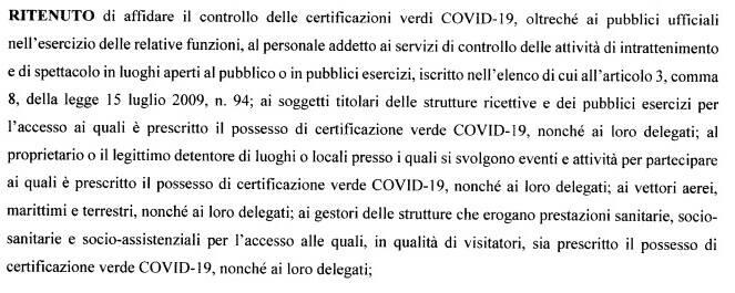 Dpcm Draghi sul controllo delle certificazioni verdi green pass matrimoni