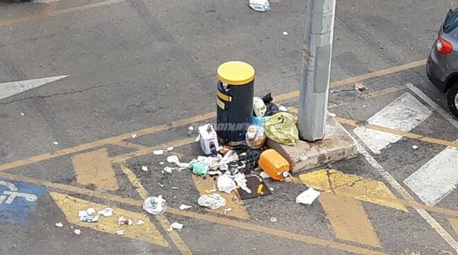 Immondizia rifiuti porto Termoli