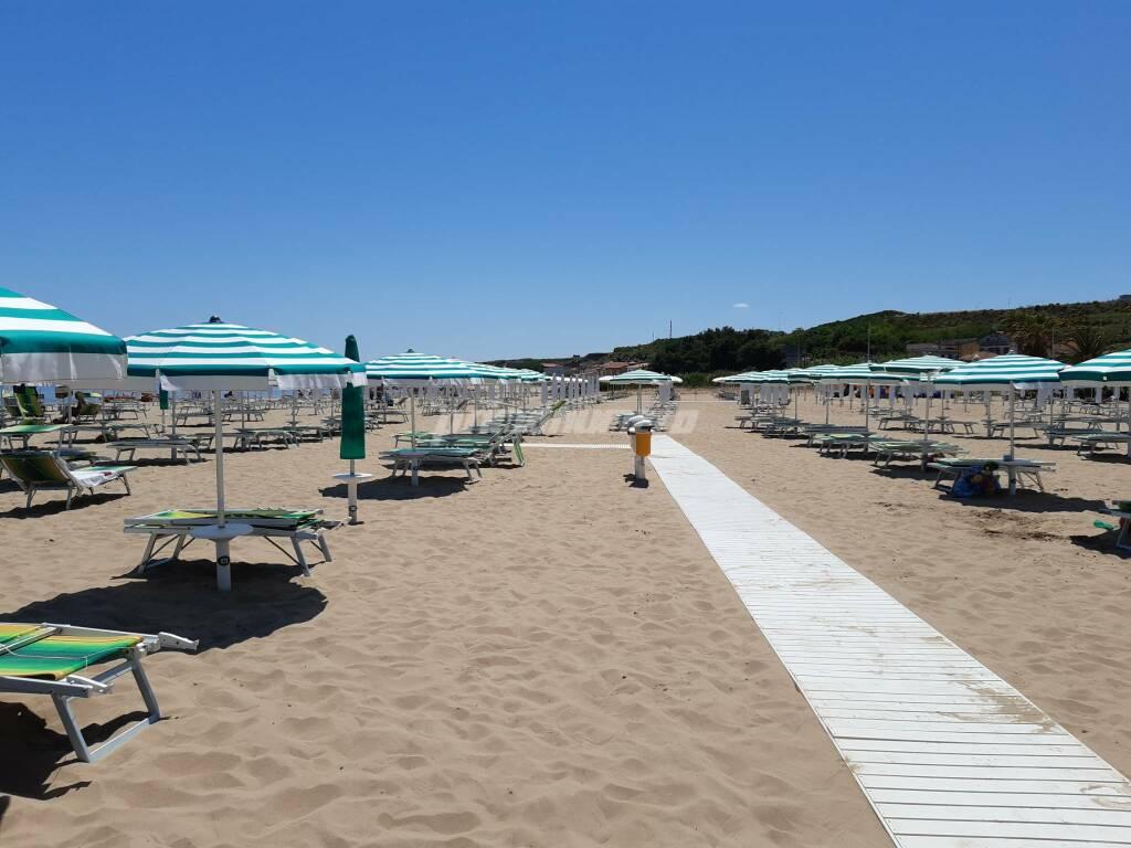Spiaggia termoli rio vivo ombrelloni mare