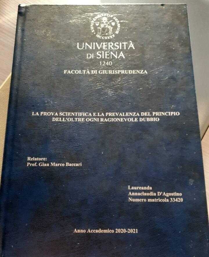 Anna Claudia D'Alessandro laurea