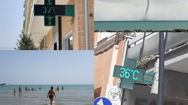 estate estrema copertina termometro caldo