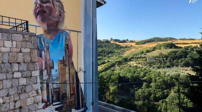 murale civitacampomarano 2021 Cristian Blanxer