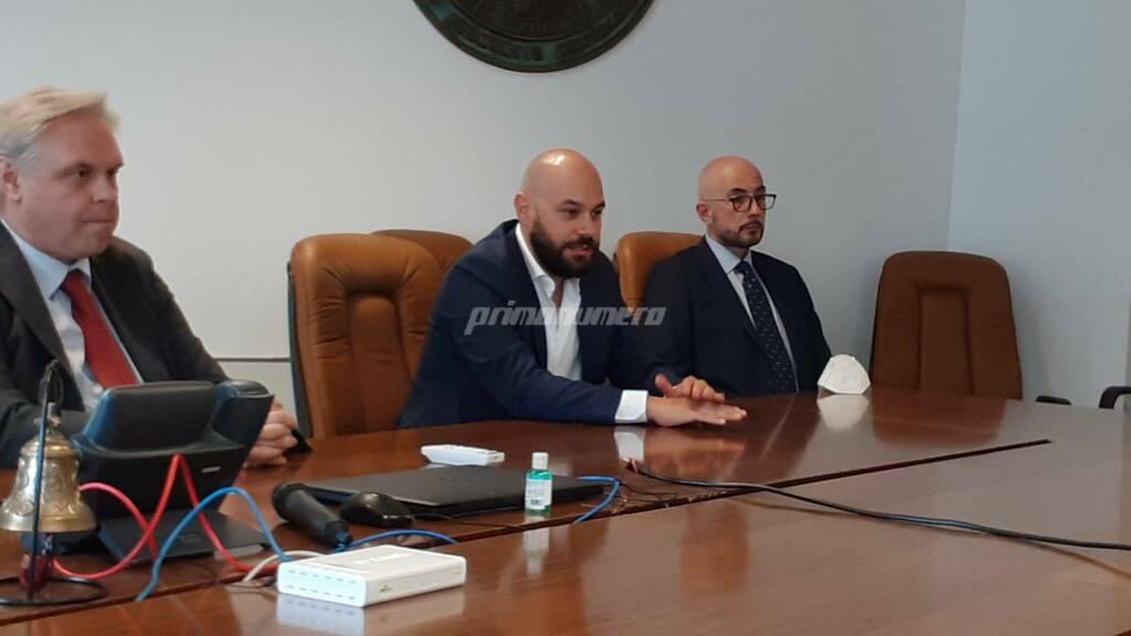 Conferenza stampa Unimol Campobasso Calcio Neuromed Mario Gesuè Luca Brunese