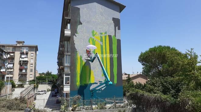 Murales Campobasso draw the line luglio 2021 arte urbana street art
