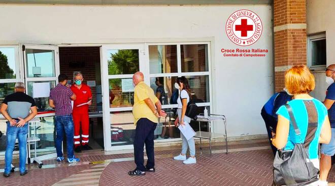 vaccini centro Bojano Isernia Croce rossa