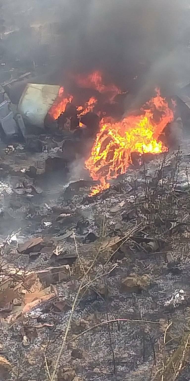 copertoni incendio fuoco Guglionesi Montecilfone
