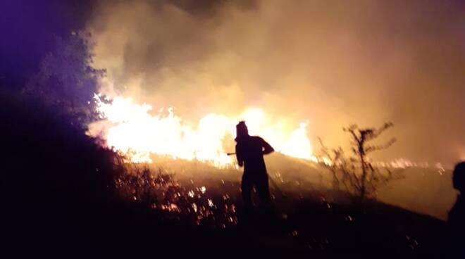 Incendio Collina Santa Maria di Monteverde