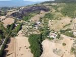 Mirabello collina Santa Maria di Monteverde incendio area distrutta