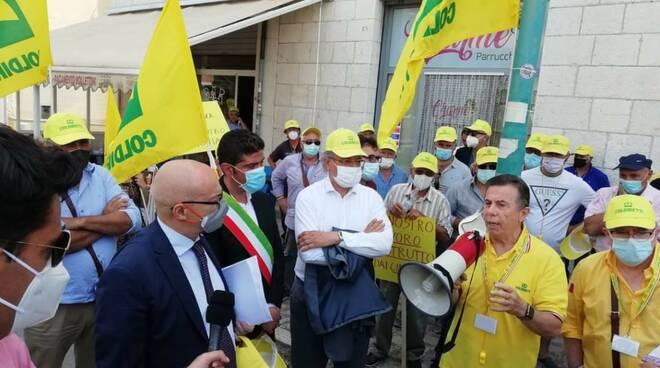 Protesta coldiretti cinghiali