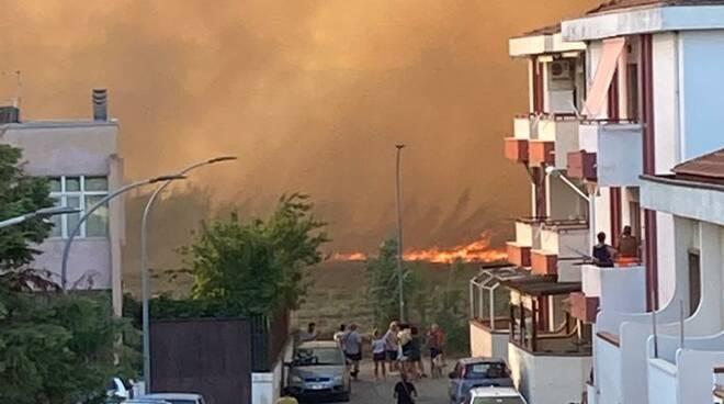 Case incendio Campomarino lido