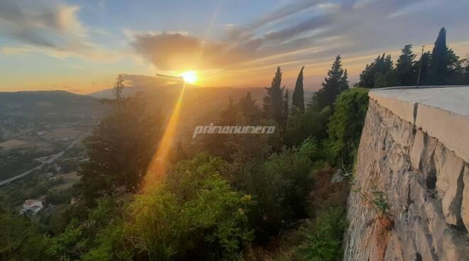 Via Matris collina Monforte castello Campobasso