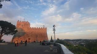 Veduta Campobasso centro storico castello Monforte via Matris