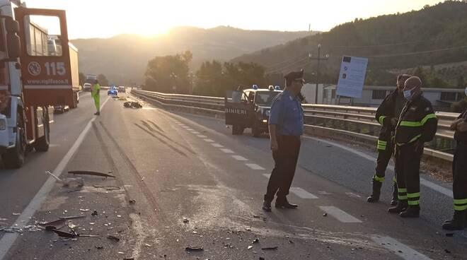 incidente mortale sulla Bifernina Limosano morto Di Bartolomeo  9 agosto 2021