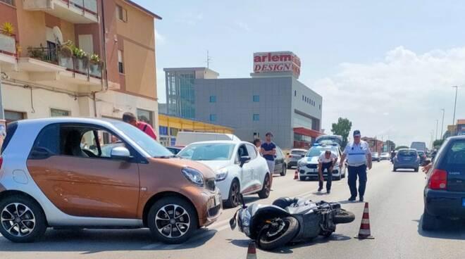 incidente scooter via corsica