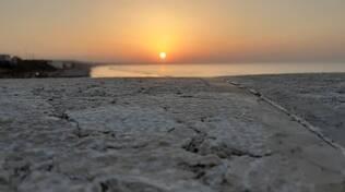 tramonto mare muraglione