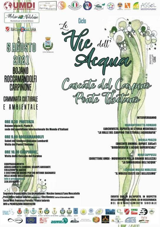 Cascate del Carpino programma