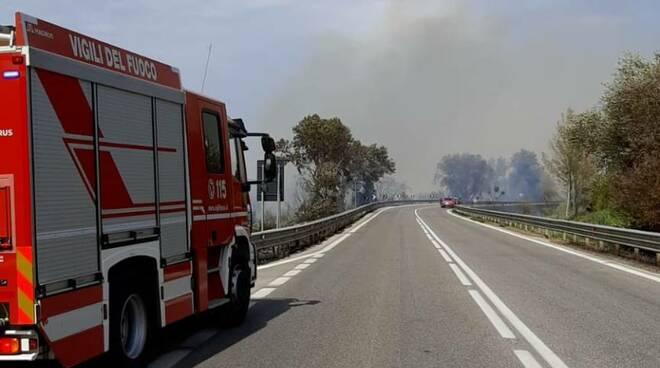 Incendio bifernina 16 agosto