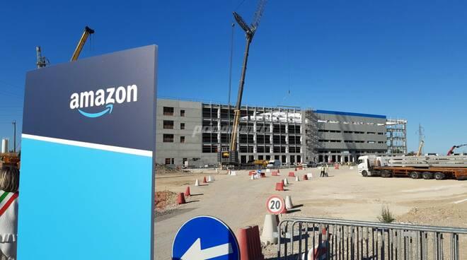 Cantiere Amazon San salvo cerimonia inaugurazione