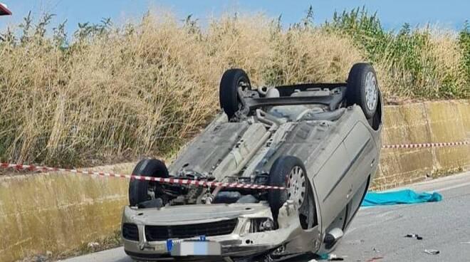 auto ribaltata mortale petacciato bimba Giulia Di Gregorio