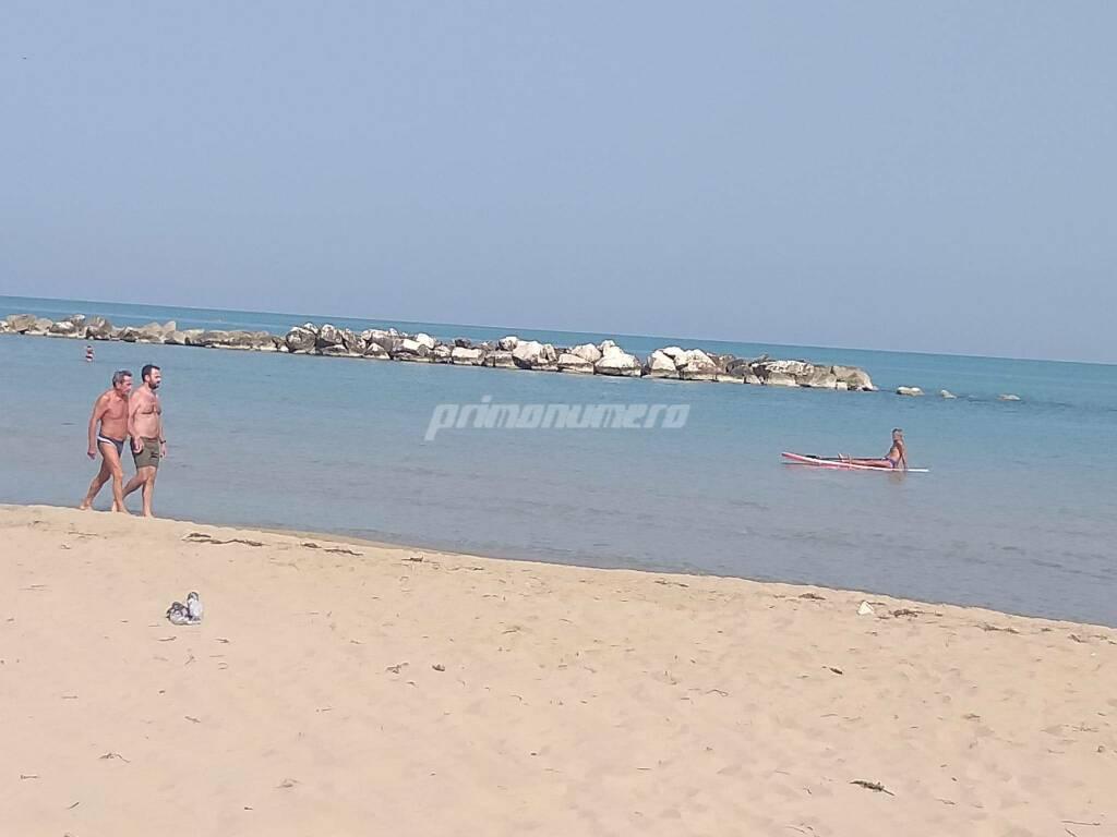 Spiaggia Termoli fine settembre mare