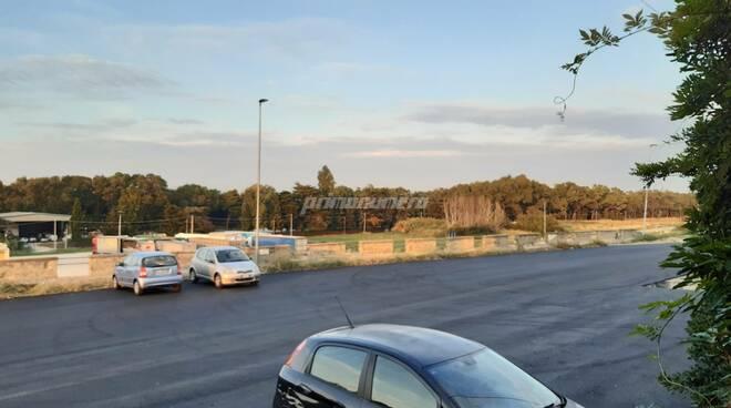 Stazione Petacciato sottopasso pulizia asfalto