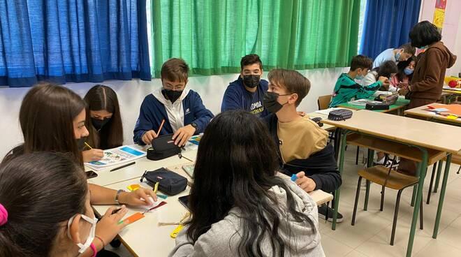 studenti liceo d ovidio laboratorio arte