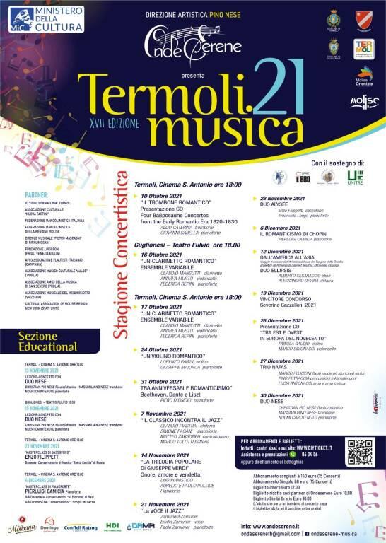 stagione cartellone concerti termoli musica 2021