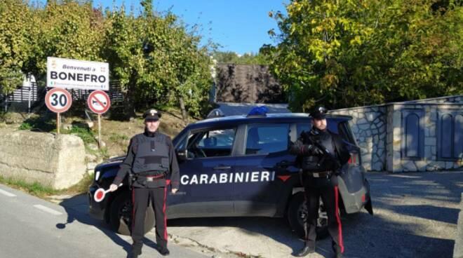 Controlli carabinieri bonefro