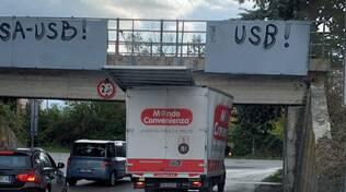 camion sotto ponte Campobasso