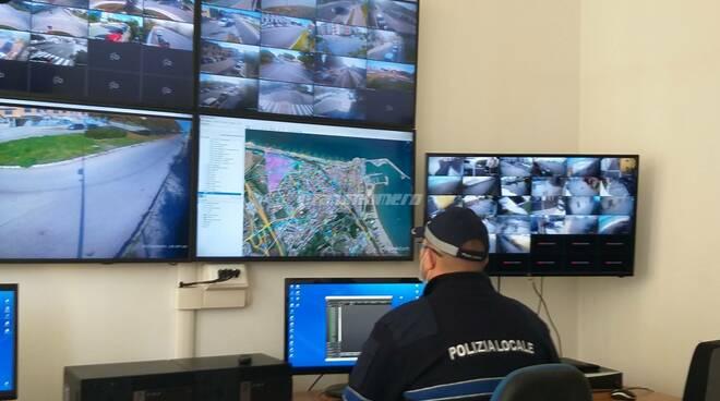 La sala operativa del sistema di videosorveglianza