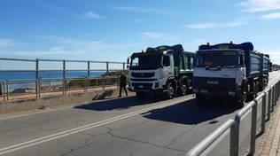Prove di carico sui ponti di Via Corsica